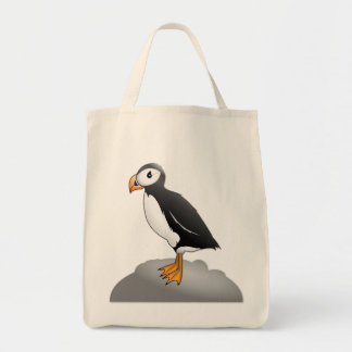 Pauly the Puffin Grocery Tote Grocery Tote Bag