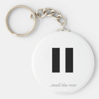 Pause smell the roses - Key Chain