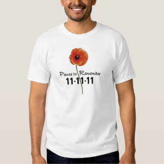 Pause To Remember Remembrance Day T-Shirt