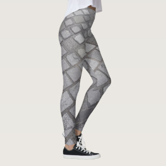 Paved leggings in grey.