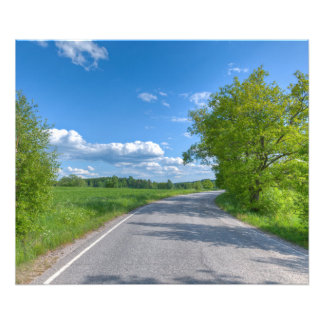 Paved road on a country side photographic print