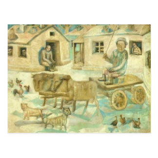 Pavel Filonov-Oxen. Scene from the Life of Savages Post Card
