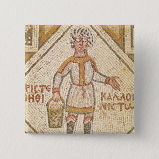 Pavement detail of a builder 15 cm square badge