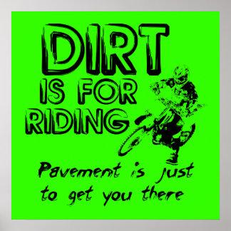 Pavement Dirt Bike Motocross Poster