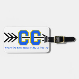PAVEMENT ENDS APPLIQUE LUGGAGE TAG