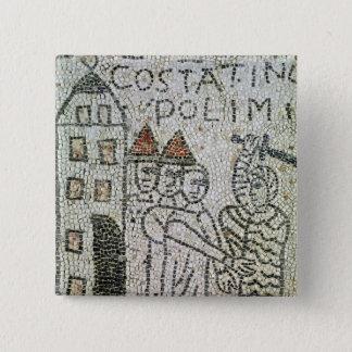 Pavement of St. John the Evangelist 15 Cm Square Badge