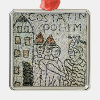Pavement of St. John the Evangelist Silver-Colored Square Decoration