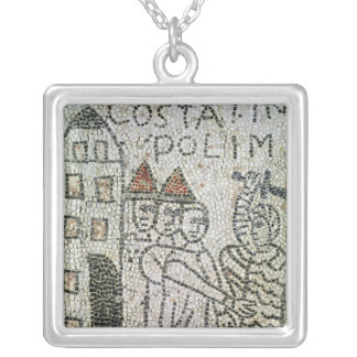 Pavement of St. John the Evangelist Silver Plated Necklace