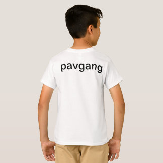 pavgang t-shirt with logo on the front