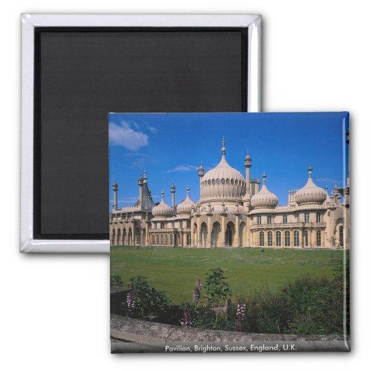 Pavilion, Brighton, Sussex, England, U.K. Square Magnet