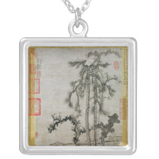 Pavilion Under the Trees Silver Plated Necklace