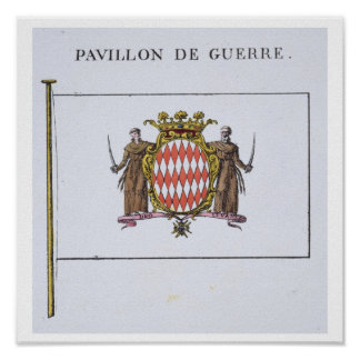 Pavillon de Guerre, detail from Flags from Monaco Poster