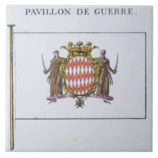 Pavillon de Guerre, detail from Flags from Monaco Tile