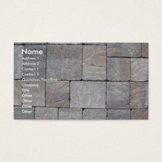 Paving blocks business card