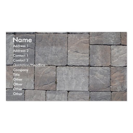 Paving blocks business card template