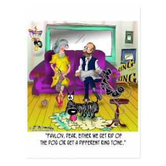 Pavlov's Ring Tone Postcard