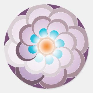 Pavo real lila. Sticker