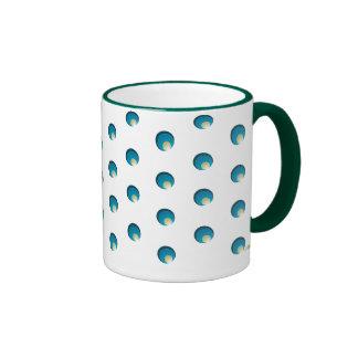 Pavo real verde. Mug