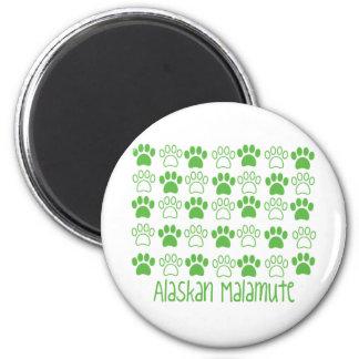 Paw by Paw Alaskan Malamute Fridge Magnets