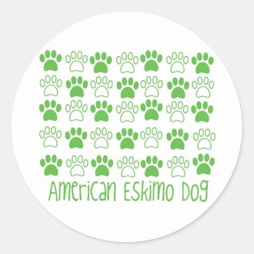 Paw by Paw American Eskimo Dog Sticker