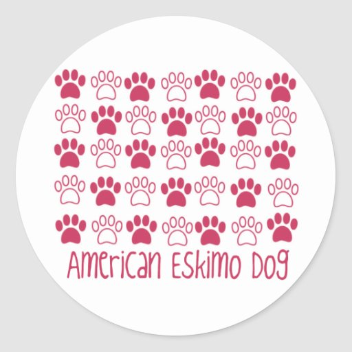 Paw by Paw American Eskimo Dog Stickers