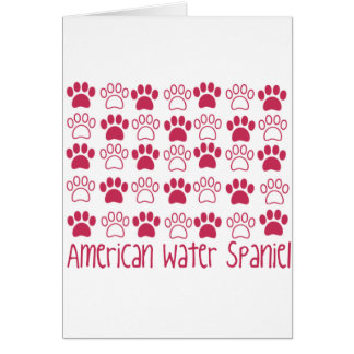 Paw by Paw American Water Spaniel Greeting Card