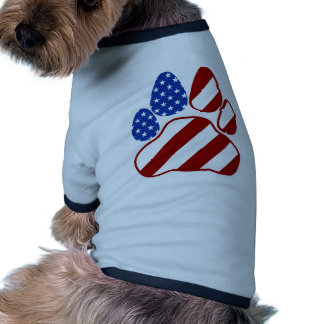 Paw Flag Ringer Dog Shirt