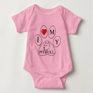 PAW - I heart my Pit Bull - Love Dog Breeds Pets A T Shirts