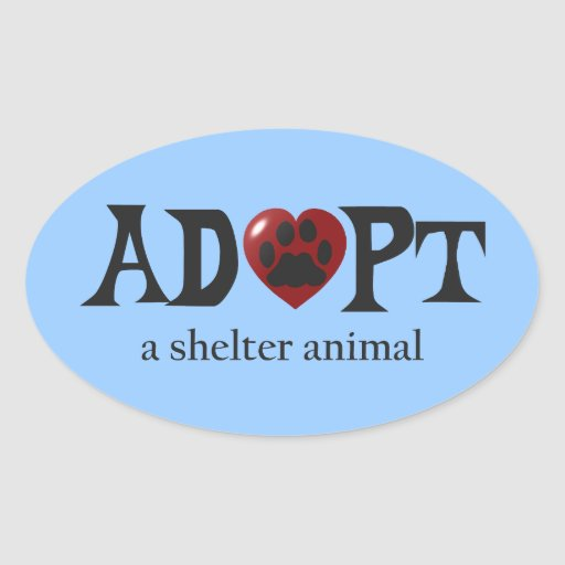 Paw in Red Heart Shelter Animal Stickers