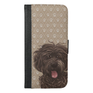 Paw Labradoodle Dog Paintings / Labradoodle Love / iPhone 6/6s Plus Wallet Case