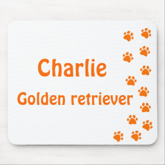Paw print - add your own name or dog breed mouse pad