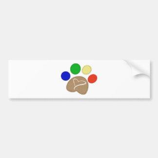 Paw Print Art Bumper Sticker