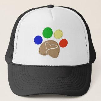 Paw Print Art Trucker Hat