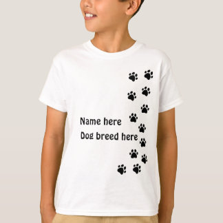 paw print black - add your own name or dog breed T-Shirt