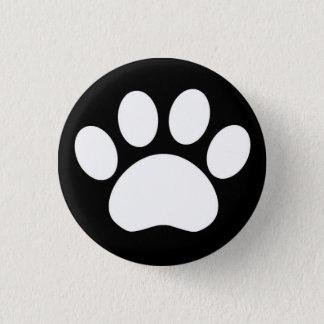 Paw Print: Black Button