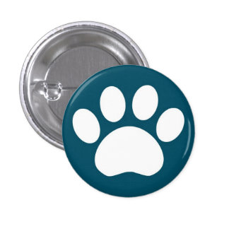 Paw Print: Blue Button