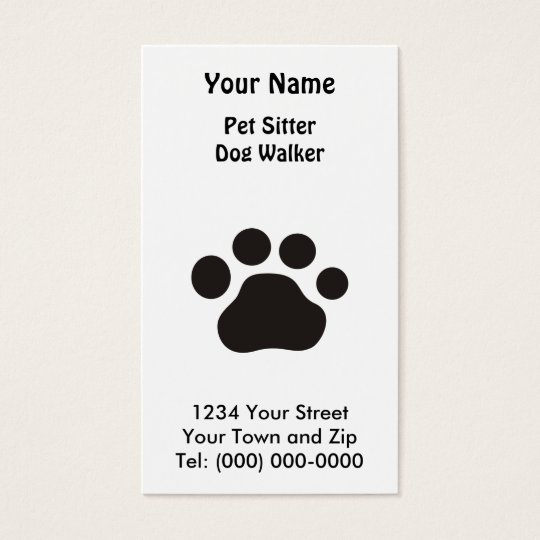 Paw Print Business Card