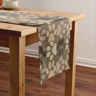 Paw Print Design Short Table Runner