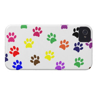 Paw print dog pet colorful blackberry bold case