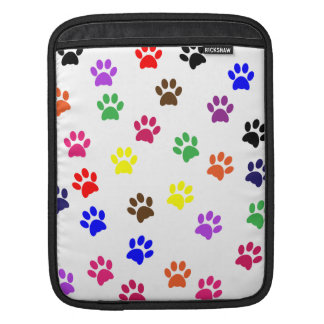Paw print dog pet colorful fun ipad sleeve