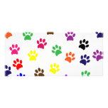 Paw print dog pet colourful fun bookmark personalised rack card