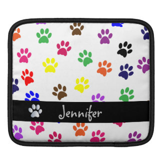 Paw print dog pet custom girls name ipad sleeve