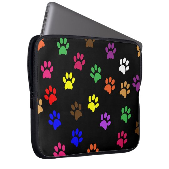 Paw print dog pet fun colourful laptop bag