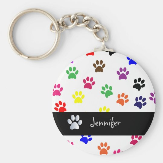 Paw print dog pet fun custom girls name