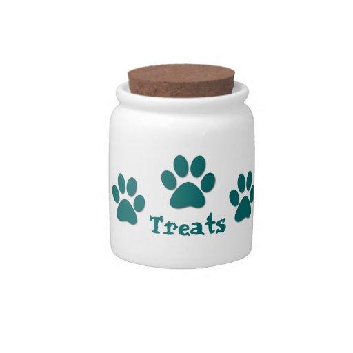 Paw Print Dog Treat Candy Dish