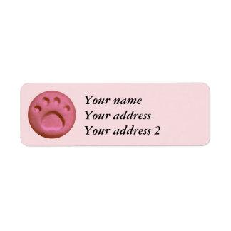 Paw Print Dot - Soft Pink Return Address Label