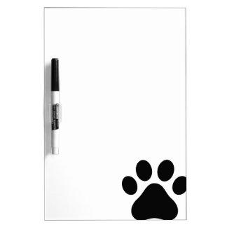 Paw print dry erase board