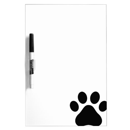 Paw print Dry-Erase whiteboards