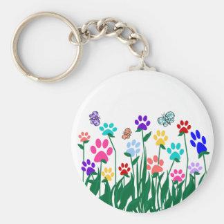 Paw print garden key chain