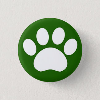 Paw Print: Green Button